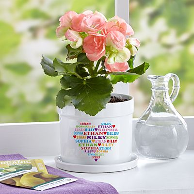 Heart Full of Love Flower Pot