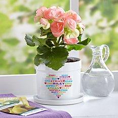 Heart Full of Love Flower Pot