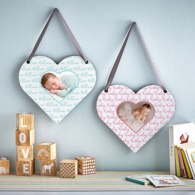 Baby Love Photo Heart Plaque