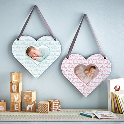 Baby Love Photo Heart Plaque