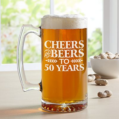 Cheers and Beers Oversized Beer Mug