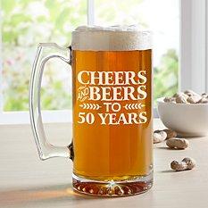 Cheers and Beers Oversized Beer Mug