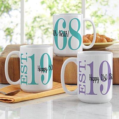 Birthday Established Mug