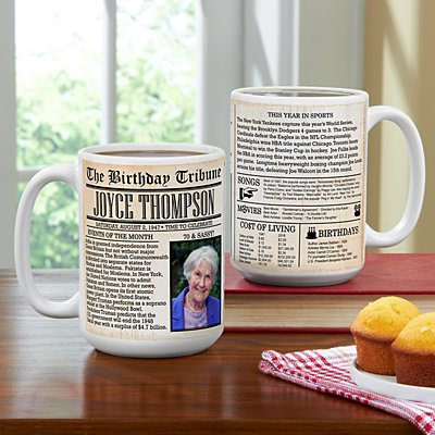 Birthday News Photo 15oz Mug