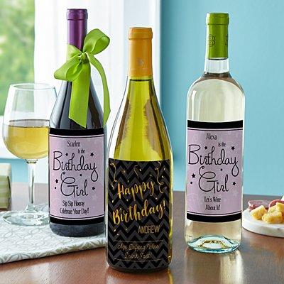 Birthday Wine Labels (Set of 4)