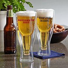Bottom's Up Beer Glass