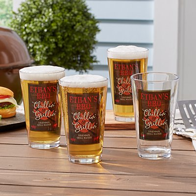 Chillin' & Grillin' Pint Glass