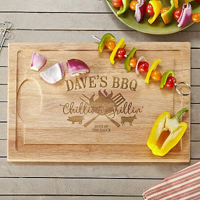 Chillin' & Grillin' Wooden Cutting Board