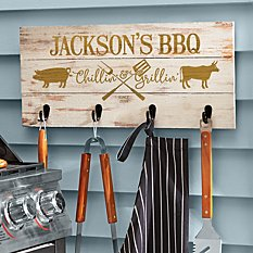 Chillin' & Grillin' Wood Tool Rack