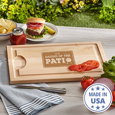 Daddio of the Patio Wood Cutting Board