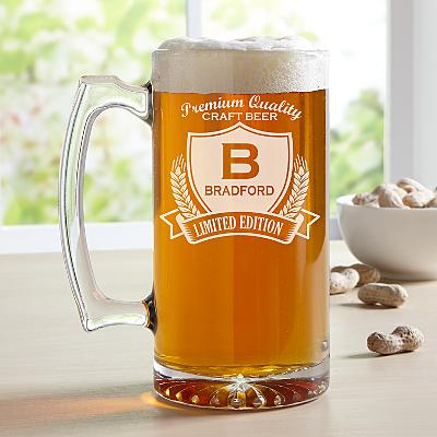 Decorative Label Oversize Beer Glass