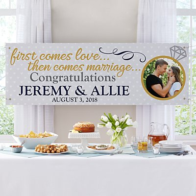 Engagement Celebration Photo Banner