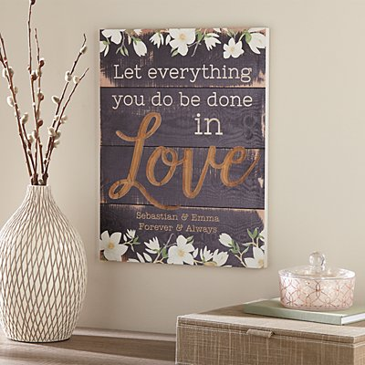 Everything in Love Wood Pallet Sign