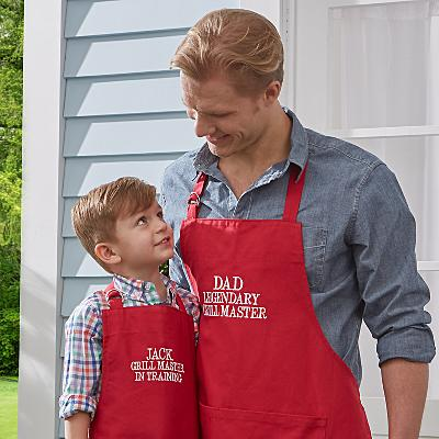 Family Fun Embroidered BBQ Apron