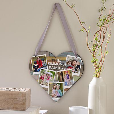 Family Love Photo Heart Plaque