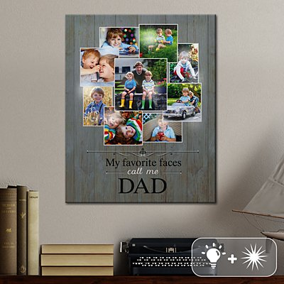 TwinkleBright® LED Favorite Faces Photo Canvas