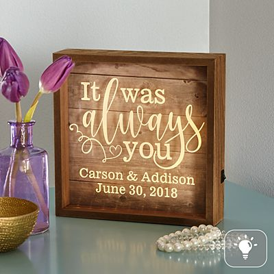It Was Always You Light Box