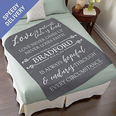 Love Endures Plush Blanket