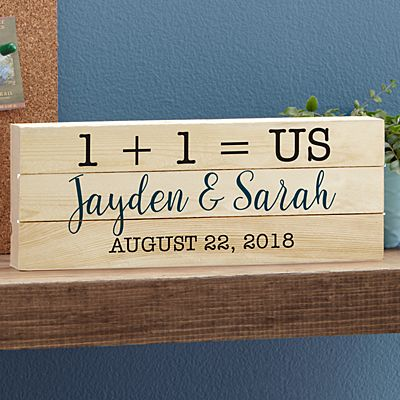 Love Equals Us Mini Wood Pallet