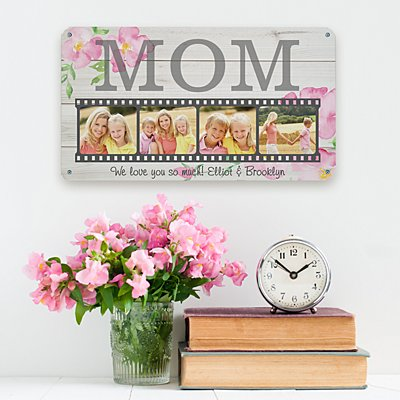 Floral Photo Memory Reel Metal Sign