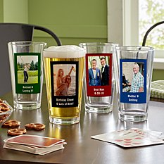 Photo Message Pint Beer Glass