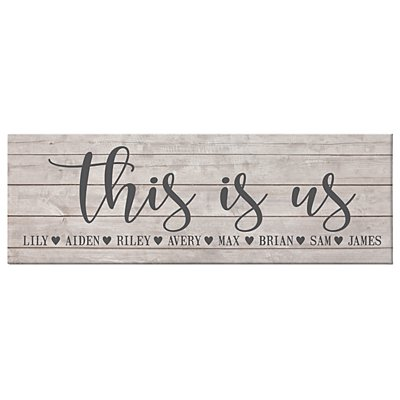 This Is Us Canvas - Unframed - 45x15 cm