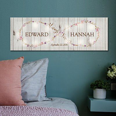 TwinkleBright® LED Always & Forever Infinity Canvas