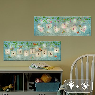 TwinkleBright® LED Hanging Letter Canvas