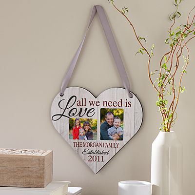 We Are Everything Photo Heart Plaque