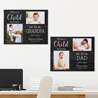 When A Child Is Born Photo Canvas