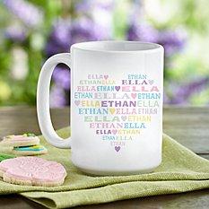Pastel Heart Full of Love Mug