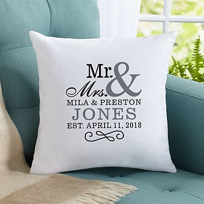 Happy Couple Throw Pillow