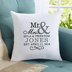 Happy Couple Throw Pillow