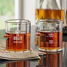 Bite The Bullet Stuck In Glass Barware