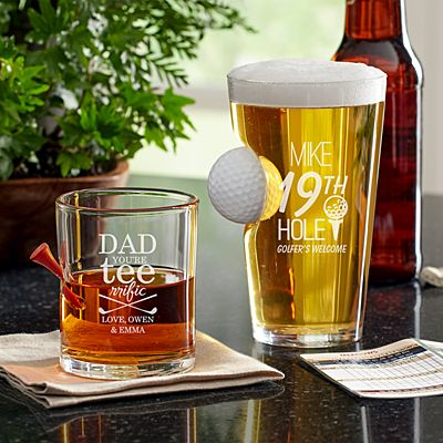 Golf Lover's Stuck In Glass Barware