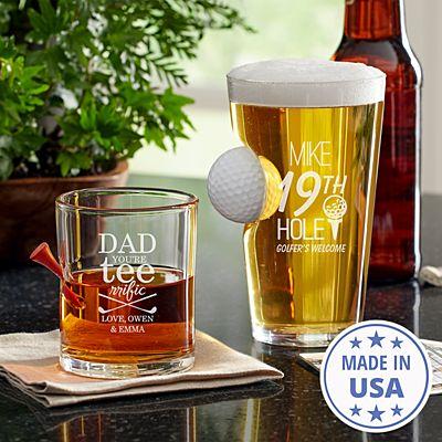 Golf Lover's Stuck In Glass Barware
