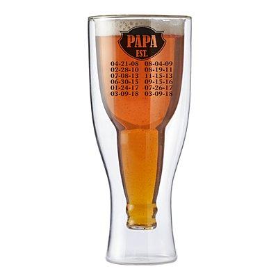 Established Bottoms Up Beer Glass - Black