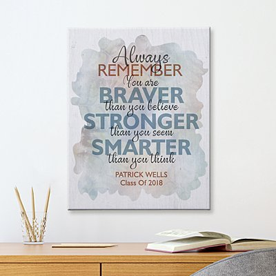 Always Remember Graduation Canvas