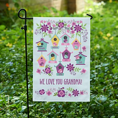 Birdie Blessings Garden Flag