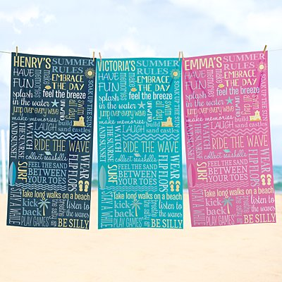 Seaside Breeze Beach Towel