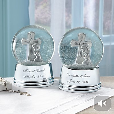 Silver Cross Keepsake Snowglobe