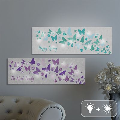 TwinkleBright® LED Butterfly Wishes Canvas