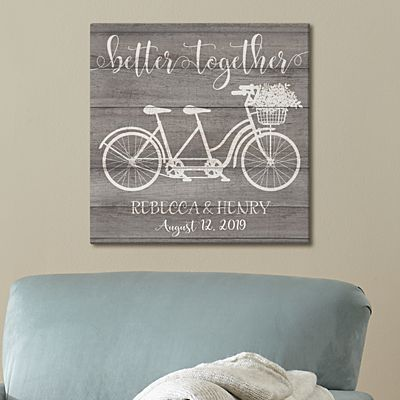 Better Together Bicycle for Two Canvas
