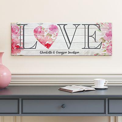 Floral Love Canvas