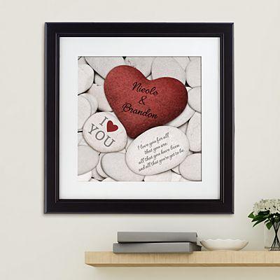 Love Rocks Square Framed Print