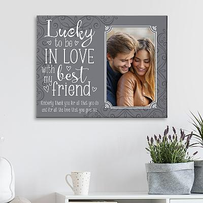 Lucky In Love Photo Canvas