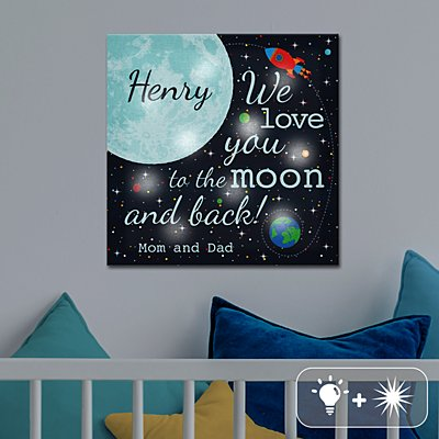 TwinkleBright® LED All Around The Moon Canvas