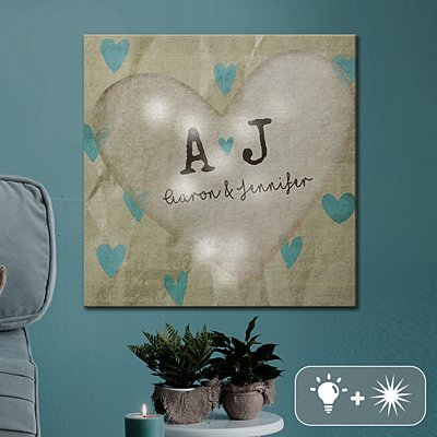TwinkleBright® LED Definition Of Love Canvas