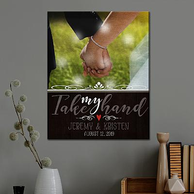 TwinkleBright® LED Take My Hand Photo Canvas
