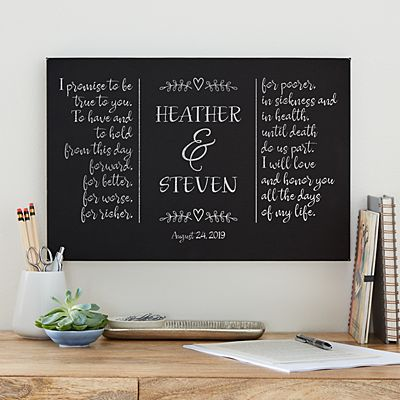 Wedding Vows Leather Wall Art